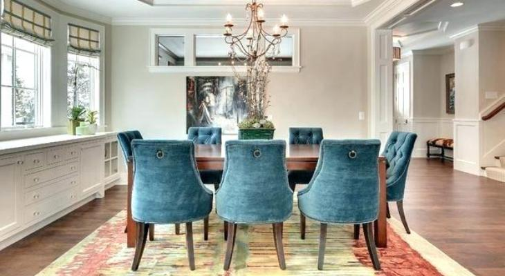 Peacock blue dining chair