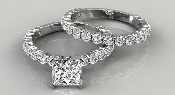 Princess cut engagement ring jewelers