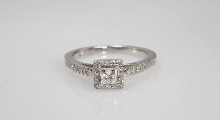 Princess cut real diamond engagement rings