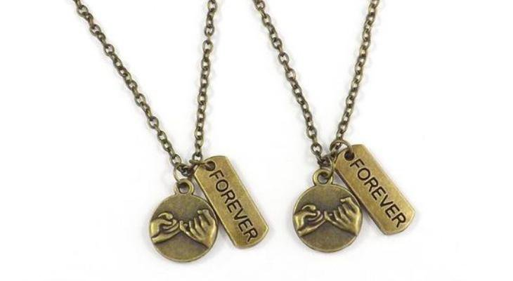 Promise necklace for couples