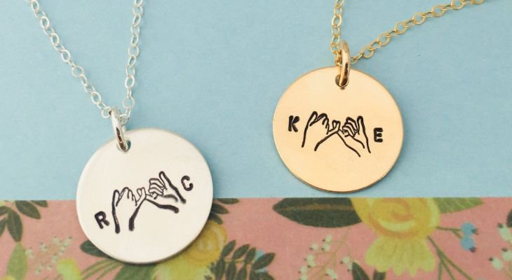 Promise necklace for him and her