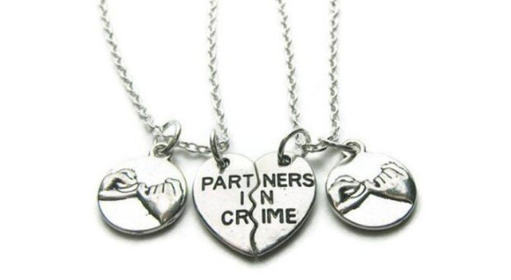 Promise rings on necklace