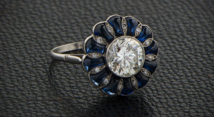 Sapphire engagement rings antique