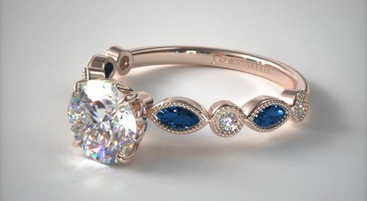 Sapphire engagement rings in rose gold