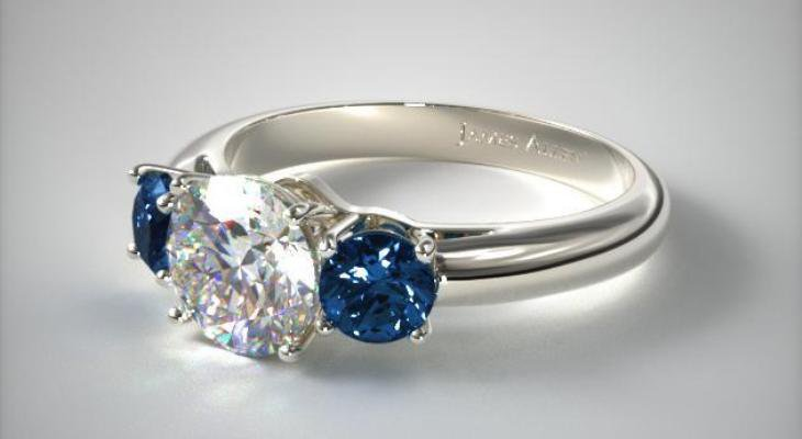 Sapphire engagement rings white gold