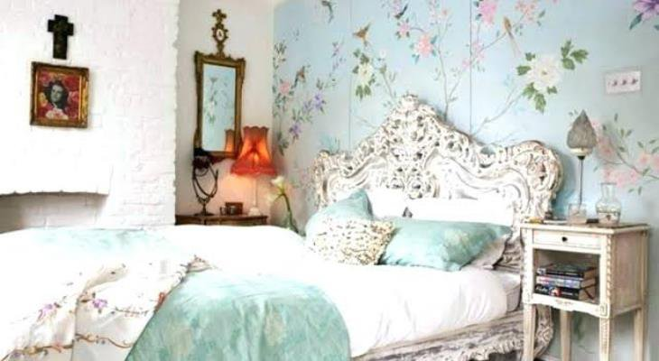 Shabby chic bedroom images