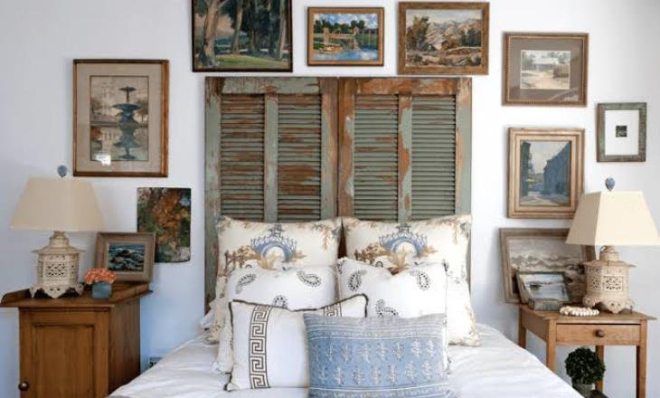 Shabby chic wall decor for bedroom