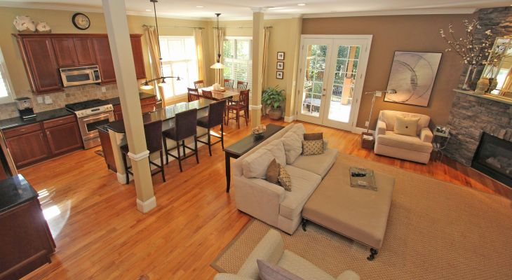 Simple ranch style open floor plans