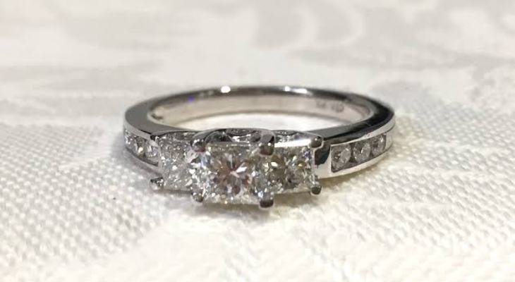 Vintage princess cut diamond engagement rings