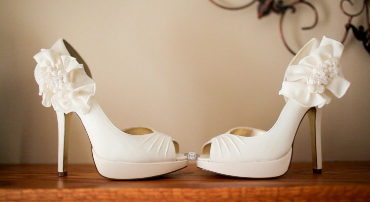 White Fantasy Wedding Heels