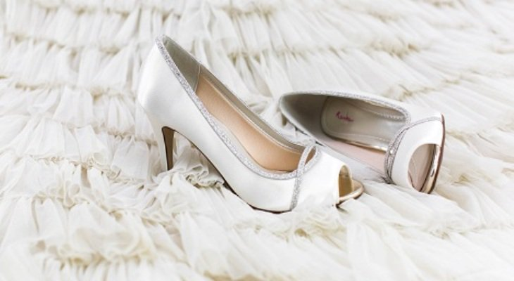 White Platform Wedding Heels