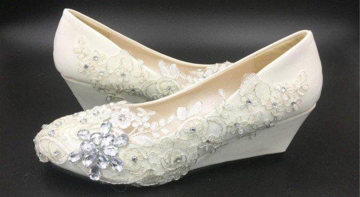 White Wedding Wedges