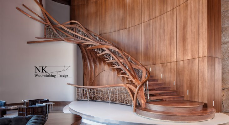 Wood design for staircase