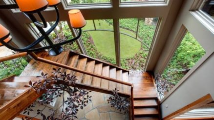 19 Natural Wooden Staircase Design