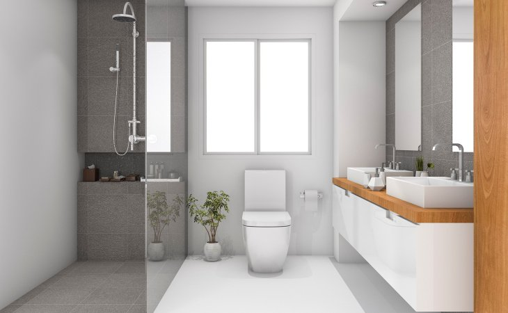 Bathroom Neutral Colors with Soft Sense