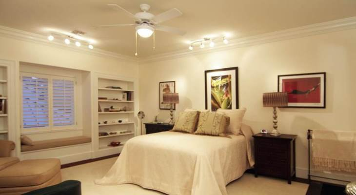 Bedroom track lighting ideas
