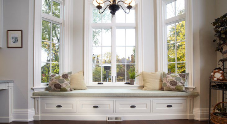 Bedroom window seat cushions