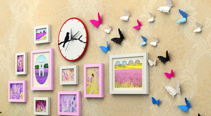 Butterfly on wall decor