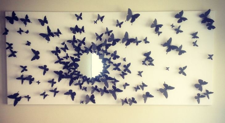 Butterfly wall art decorating ideas