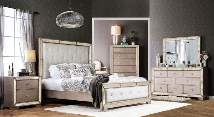 Cool Mirrored Nightstand Ideas