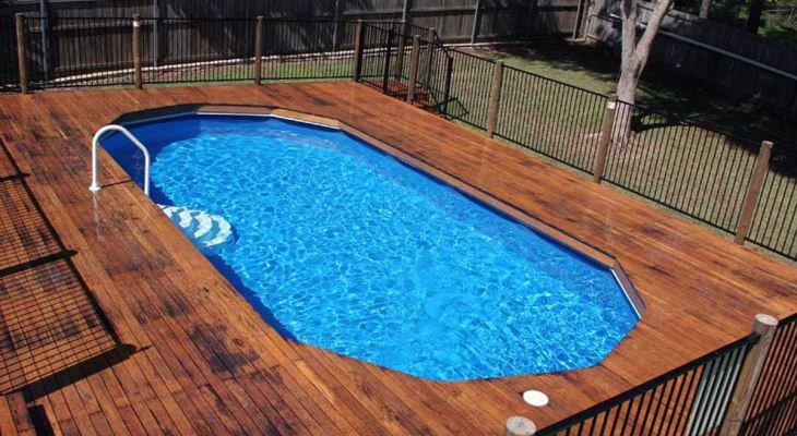 Either Above Ground Pools with Decks or Inground Pools