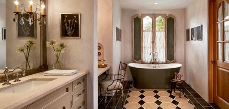 French country bathroom design ideas