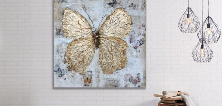 Gold butterfly wall decor