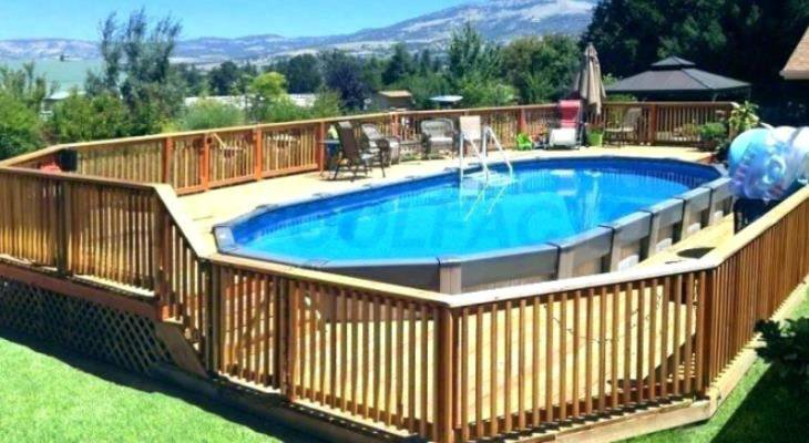 Ideas for above ground pool deck