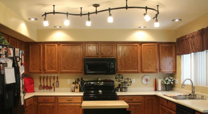 Kitchen ceiling track lighting ideas