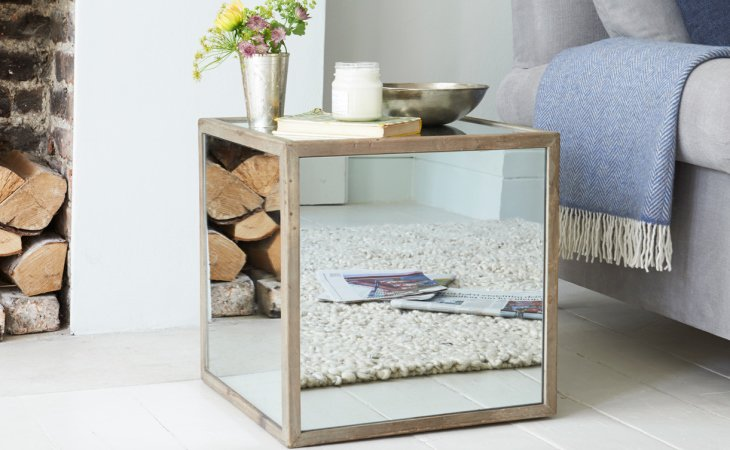 Mirrored nightstand diy