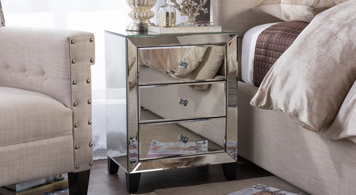 Mirrored nightstand wayfair