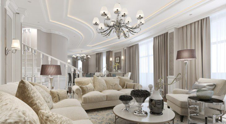 Stylish Modern Living Rooms with Elegant Furniture and Lighting
