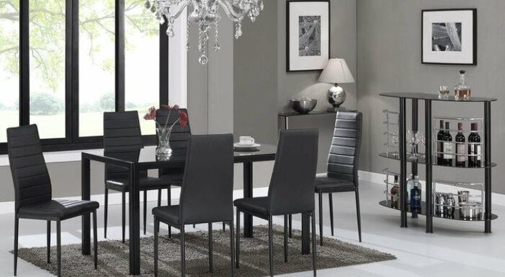 Modern dining room chairs leather