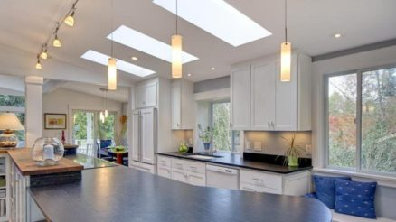 Modern kitchen track lighting ideas