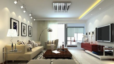 Modern living room lighting fixtures