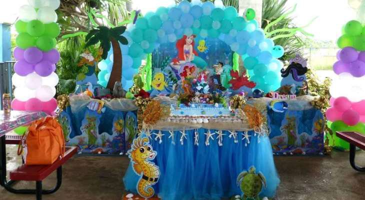 Party decorations beach theme