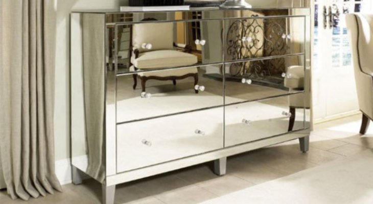 Places where a cheap mirrored nightstand can be found