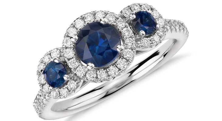 Sapphire engagement rings blue nile