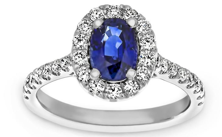 Sapphire engagement rings halo