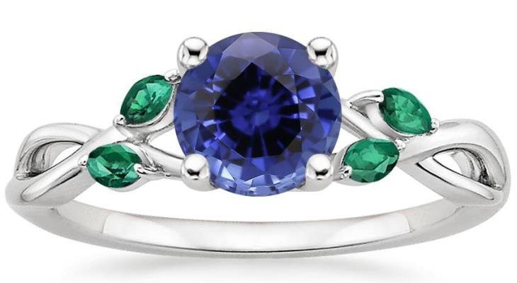 Sapphire engagement rings lab created