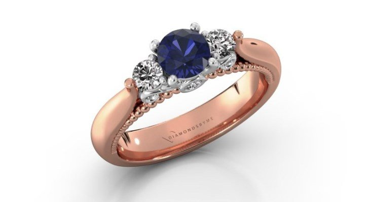 Sapphire engagement rings rose gold