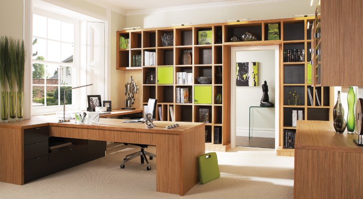 Stylish Home Office Ideas with Wood Furniture