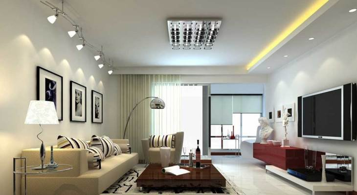 Track lighting ideas for living room
