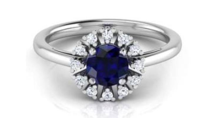 Unique engagement rings with sapphire