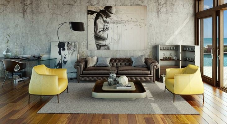 Untreated Furniture for Modern Living Rooms