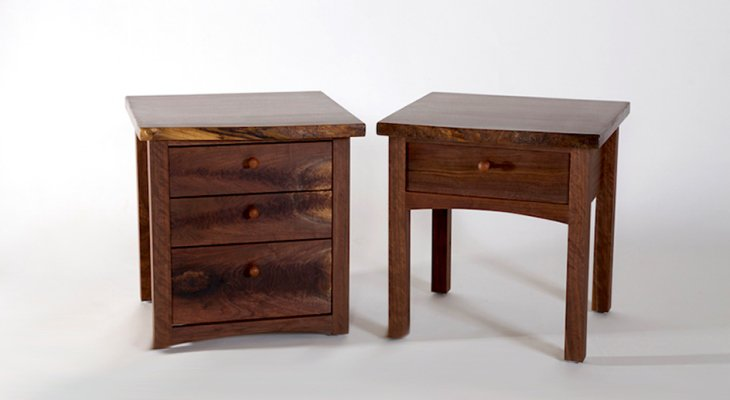 Wood nightstand with drawer
