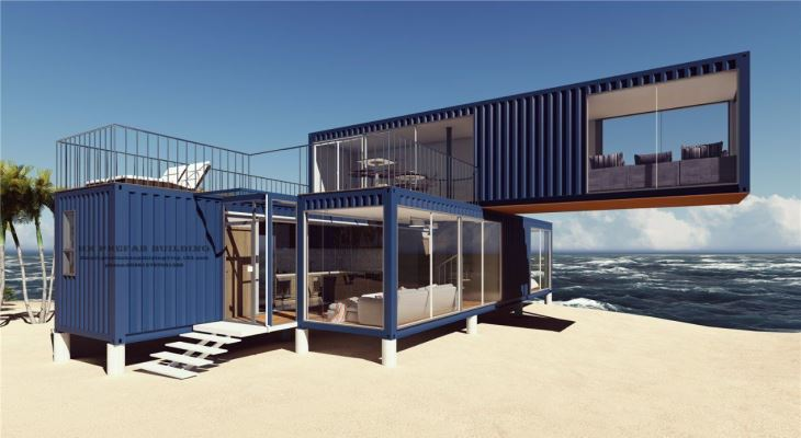 Container beach house design