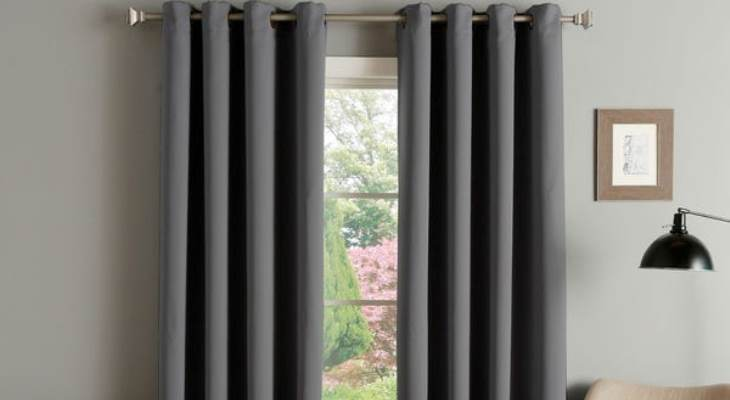 Grommet top blackout curtains