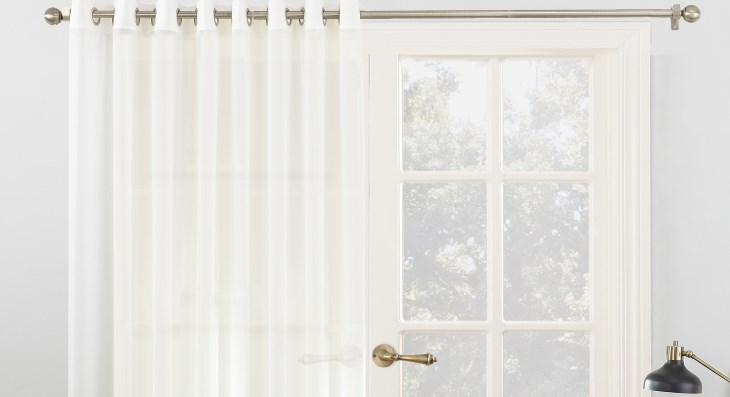 Grommet top patio door curtains