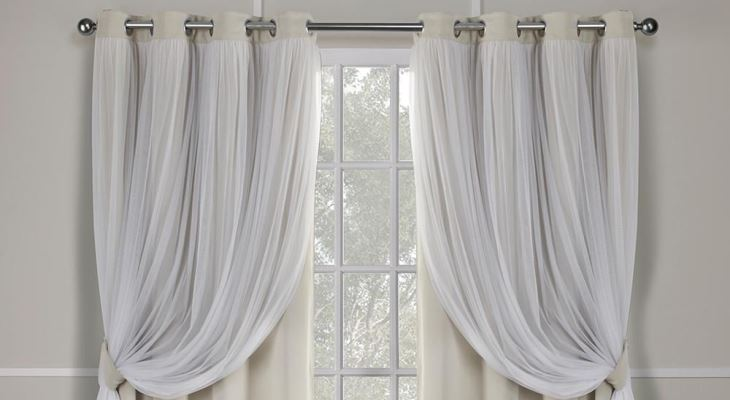 Grommet top sheer curtains